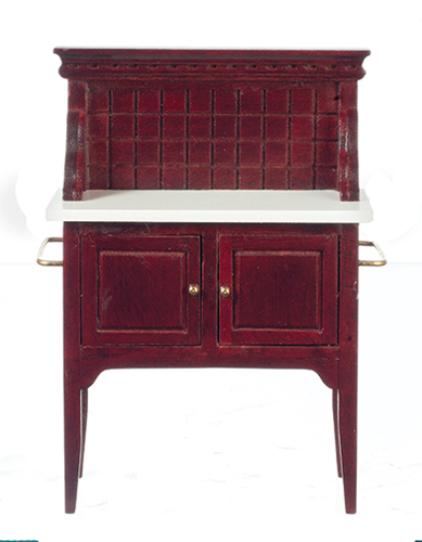 Dollhouse Miniature Hutch Mahogany