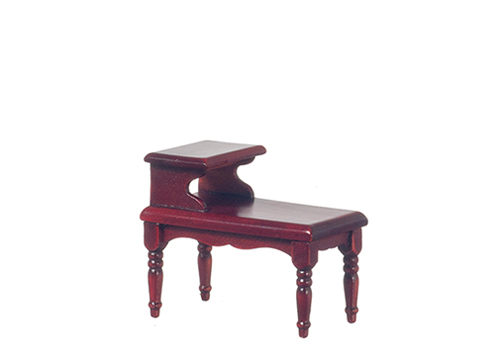 Dollhouse Miniature2-Tier End Table, Mahogany