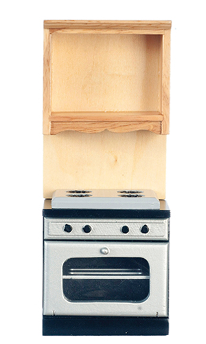 Dollhouse Miniature Oven without Microwave, Oak