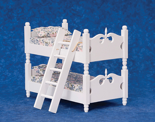 Dollhouse Miniature Bunkbed with Ladder