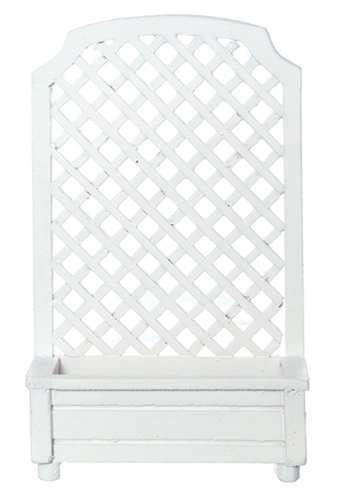 Dollhouse Miniature Planter, Trellis, White
