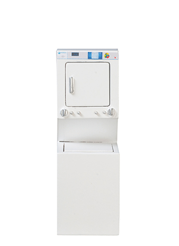 Dollhouse Miniature Washer and Dryer, White
