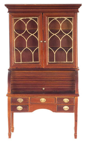 Dollhouse Miniature George Washington Desk, Walnut