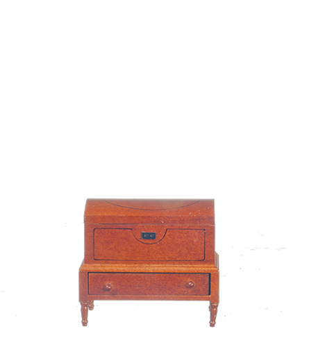 Dollhouse Miniature Lincoln Dome Chest, Walnut