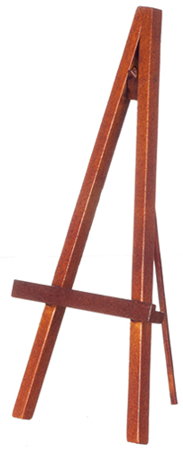 Dollhouse Miniature Easel, Walnut