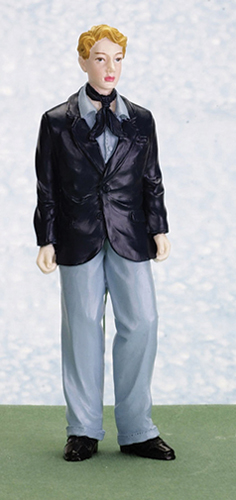 Dollhouse Miniature Dan, Young Man In Suit