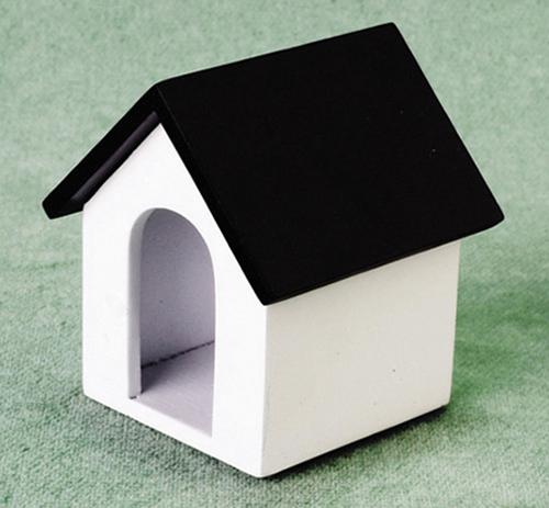 Dollhouse Miniature White Dog Food Bowl Filled ~ HR57185