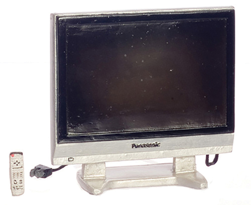 Dollhouse Miniature36 In Widescreen TV with Remote