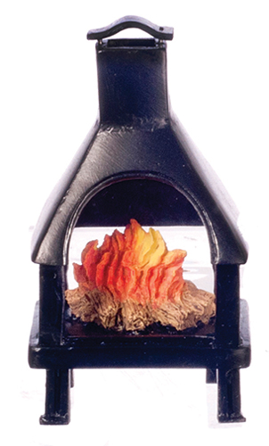 Dollhouse Miniature Outdoor Fireplace