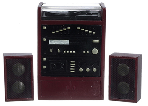 Dollhouse Miniature Stereo System