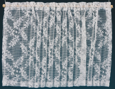 Dollhouse Miniature Curtains: Lace Picture Window, White