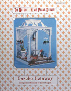 Dollhouse Miniature Gazebo Getaway Plan