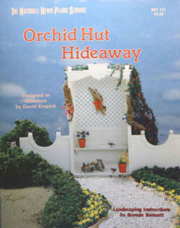 Dollhouse Miniature Orchid Hut Hideaway Plan Book