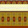Dollhouse Miniature Wallpaper: Tripartite