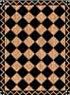 Dollhouse Miniature Floor cloth: Zig Zag