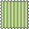 Dollhouse Miniature Silk Fabric: Albert Stripe Green