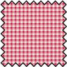 Dollhouse Miniature Silk Fabric: French Check Red