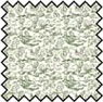 Dollhouse Miniature Silk Fabric: 1/2 In Champagne Green