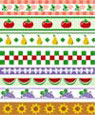 "Dollhouse Miniature 1/4"" Scale Wallpaper: Kitchen Border"