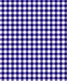 "Dollhouse Miniature 1/4"" Scale Wallpaper: Gingham, Blue"