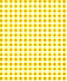 "Dollhouse Miniature 1/4"" Scale Wallpaper: Gingham, Yellow"