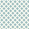 Dollhouse Miniature 1/2In Scale Wallpaper: Tulip Tile, Blue