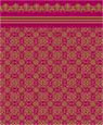 "Dollhouse Miniature 1/4"" Scale Wallpaper: Victorian Lace, Garnet"
