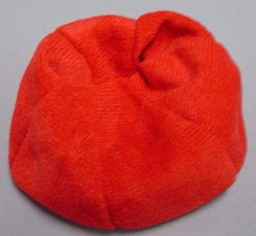 Dollhouse Miniature Red Bean Bag Chair