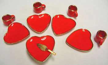 Dollhouse Miniature Heart Desert Set