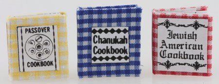 Dollhouse Miniature Jewish Cookbook, Set Of 3