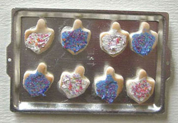 Dollhouse Miniature Tray Of Dreidel Cookies