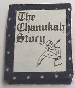 Dollhouse Miniature Story Of Chanukah Book