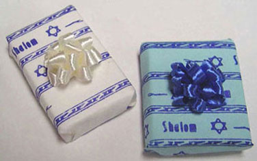Dollhouse Miniature Shalom Gift-Specify Blue Or White