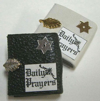 Dollhouse Miniature White Prayer Book