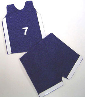Dollhouse Miniature Gym Shorts & Jersey, Specify Red Or Blue