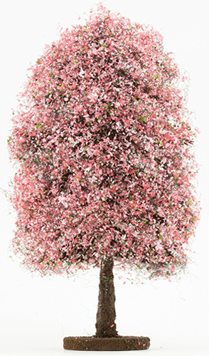 Dollhouse Miniature Bush: Pink-Fuchsia, Large