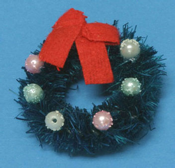 Dollhouse Miniature Wreath, Decorated