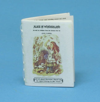 Dollhouse Miniature Alice In Wonderland, Readable, Antique Repro