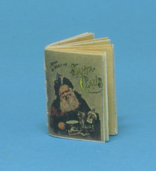 Dollhouse Miniature Around The World With Santa Clause, Readable Book