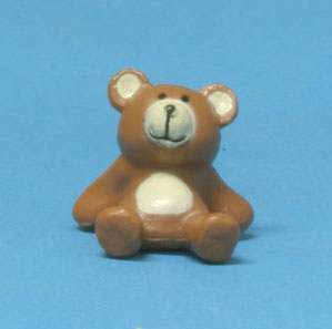 "Dollhouse Miniature Seated Teddy Bear, 5/8"" H"