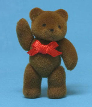 Dollhouse Miniature Jointed Teddy Bear, Assorted Natural Colors 2-3/4 High