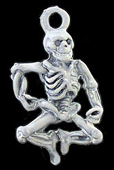 Dollhouse Miniature Dancing Skeleton
