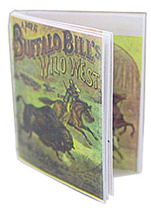 Dollhouse Miniature Buffalo Bill Antique Repro Readable Book