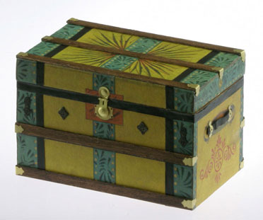 Dollhouse Miniature Lithograph Wooden Trunk Kit, Yellow Bliss