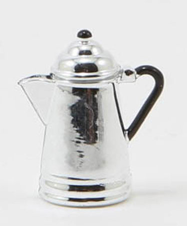 Dollhouse Miniature Coffee Pot, Silver