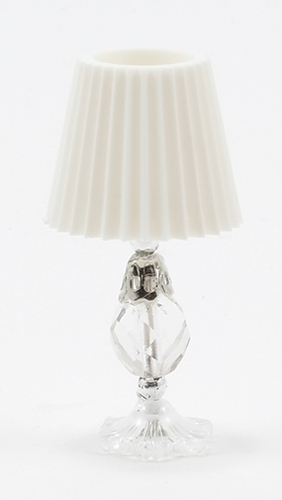 Dollhouse Miniature Cut-Glass Crystal Table Lamp