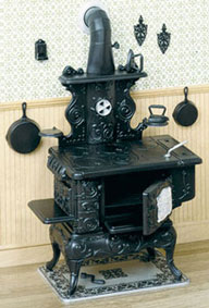 Dollhouse Miniature F-250 Cook Stove Kit