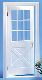 Dollhouse Miniature Crossbuck Door Houseworks #6012-1:12 Scale