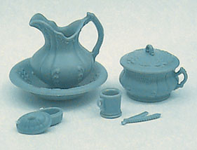 Dollhouse Miniature M-159B Chamber Pot Set Minikit, Blue