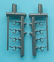 Dollhouse Miniature Clothes Hook, 8 Pcs.
